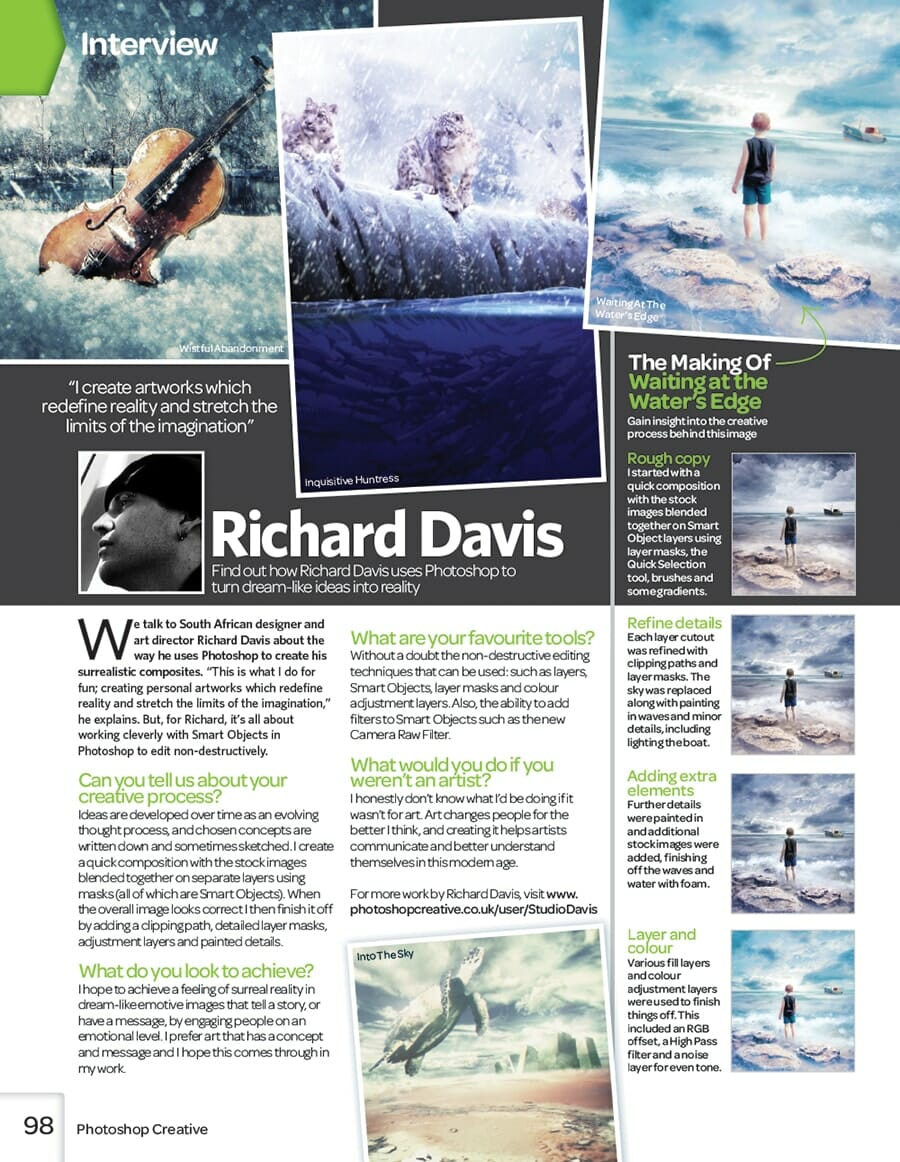 Photoshop Creative Magazine issue 107 interview