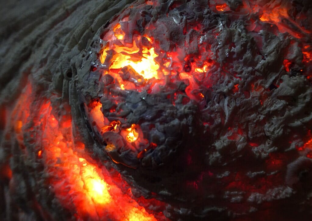 Flaming seashell